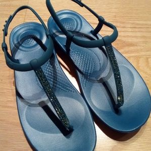 Fitflop Back Strap Sparkly Sandals, 8 BNIB